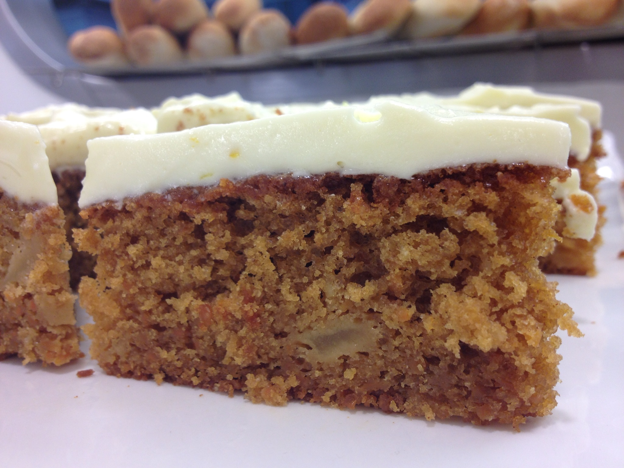 Carrot & Apple Cake with Mascarpone, Lime & Lemon Frosting - etc food...
